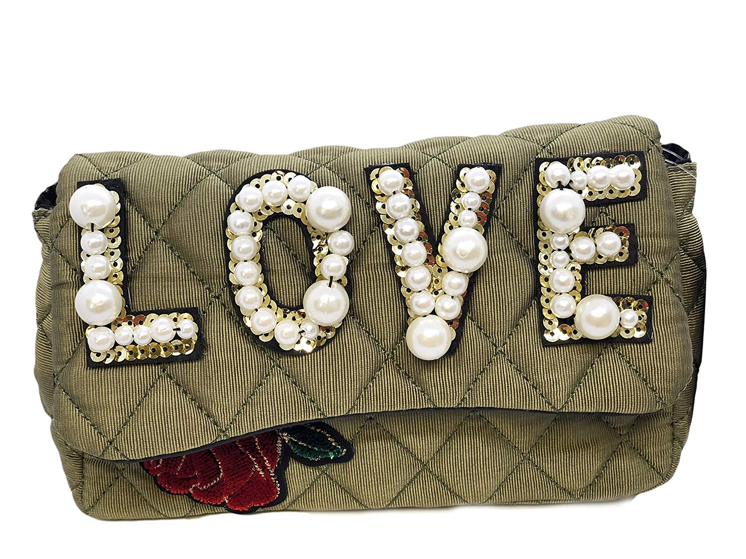c31a7279602c Inzi Inpired Bees Butterflies and Lions belt bag. 99.99. null. Get  Quotations · Inzi Pearly Love Rose Quilted Front Flap Handbag