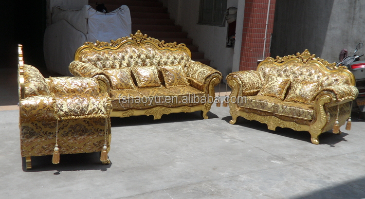 Royal Living Room Sofa Furniture Golden Dubai DesignDWL929