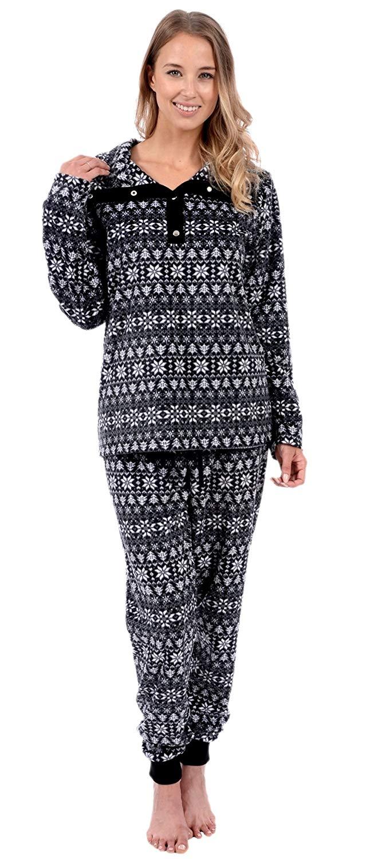 Get Quotations · Patricia Women s Soft Minky Polar Fleece 2 Piece Pajama  Sets f12f8a2ee