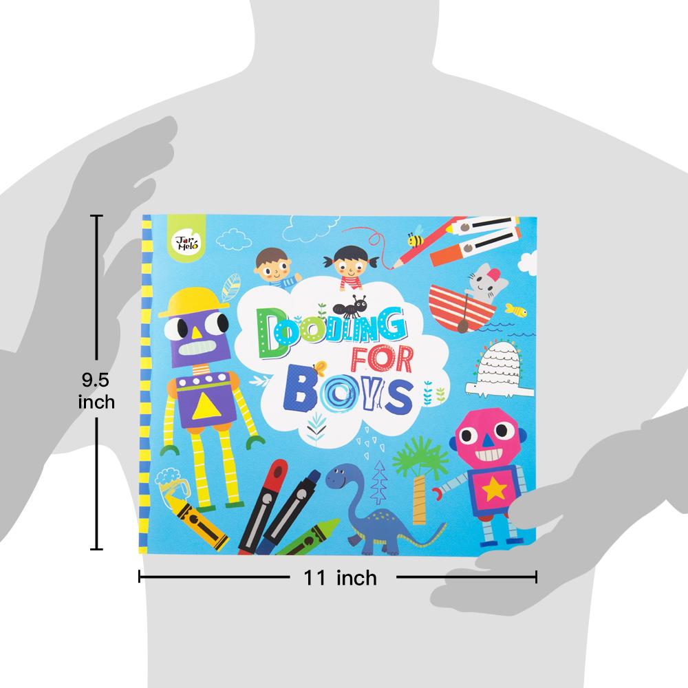 लड़कों के लिए डूडल पुस्तक ड्राइंग, डूडल और कलरिंग पुस्तक