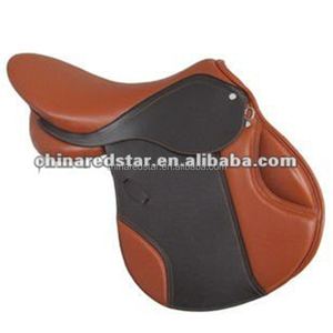 High Quality Leather western horse Saddle With Colorful Style