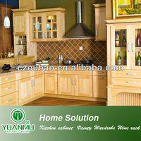 Shaker Door Style Natural Maple American Kitchen Cabinet