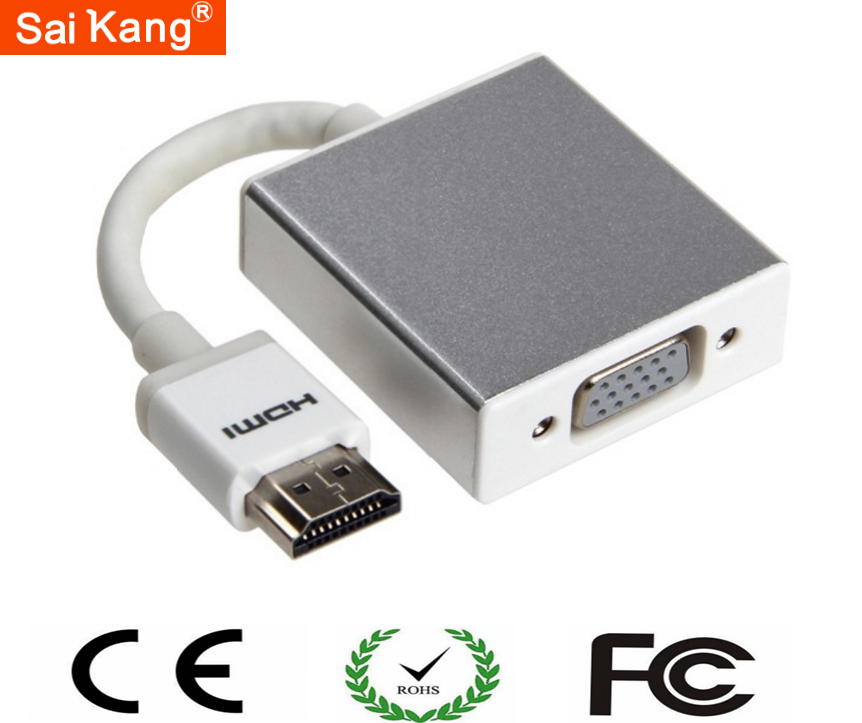 HDMI TO VGA Converter Adapter 1080P For Computer/Monitor/Projector