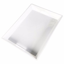 19-1/2 Inch Restaurantware Solid color snow white melamine serving tray with handle