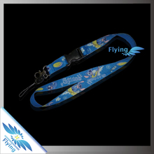 Unique imprinted polyester lanyard with logo custom PMS color