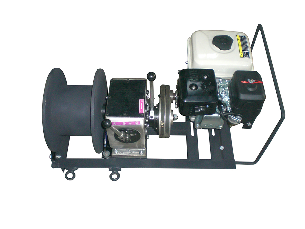 1 Ton Cable Puller Winch With Petrol Engine Powered Winch