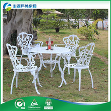Cast Aluminum used restaurant table and chair