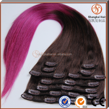 Kids clip in hair pieces double weft colored ombre clip in human kids clip in hair pieces double weft colored ombre clip in human hair extensions pmusecretfo Image collections