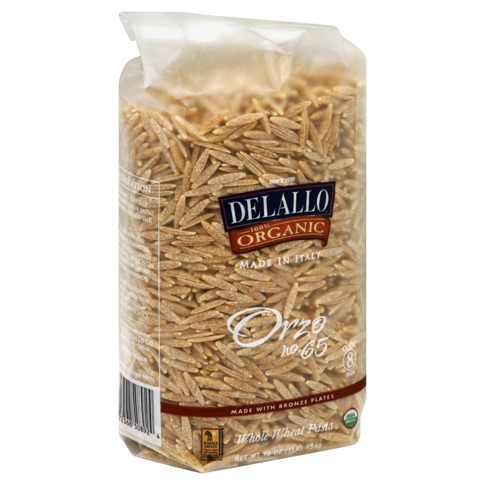 DeLallo Whole Wheat Orzo 16.0 OZ (Pack of 2)