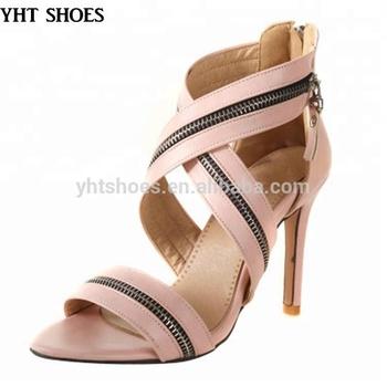 31d160c04051f Indian Fashion Women Zipper Heeled Sandals Ankle Strap Ladies Shoes ...