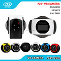 360 vr camera wifi wireless Dual lens 360 VR sports action camera support Facebook/Youtube 16MP VR Camera ZXS-720A
