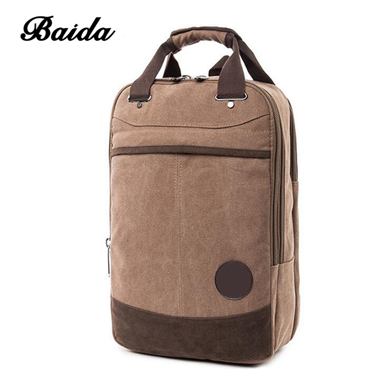 Fashion vintage school back pack bag canvas backpack