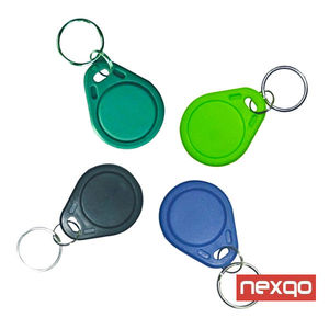 Free Sample custom 13.56Mhz RFID Key fob Tags MIFARE Classic 4K Keyfobs for identification