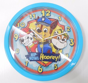 10-inches Cartoon characters plastic wall clock with battery cover for gift