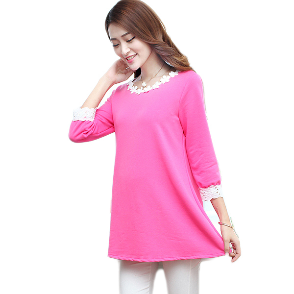 b292ce4ac7d33 Get Quotations · Rose Red Cotton Maternity Tops Blouses for Pregnant Women  Elegant Maternity Clothes Pregnancy Blouse Pregnant Shirt