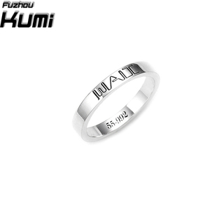 Hot sale 925 silver band ring jewelry engagement ring