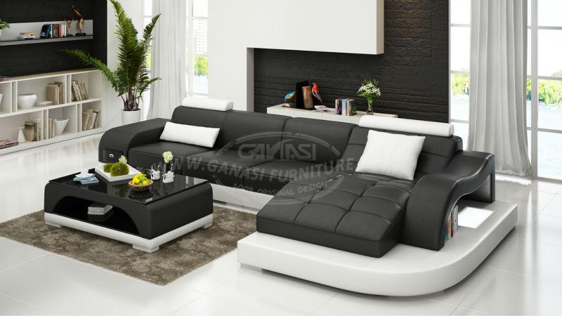 cmodo sof de cuero moderno cuero importado - Sofas Modernos Baratos