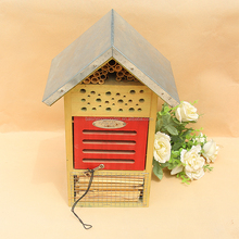 Creative natural style household items pet products small wooden bird house