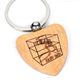 Fashionable custom printing wooden keychains