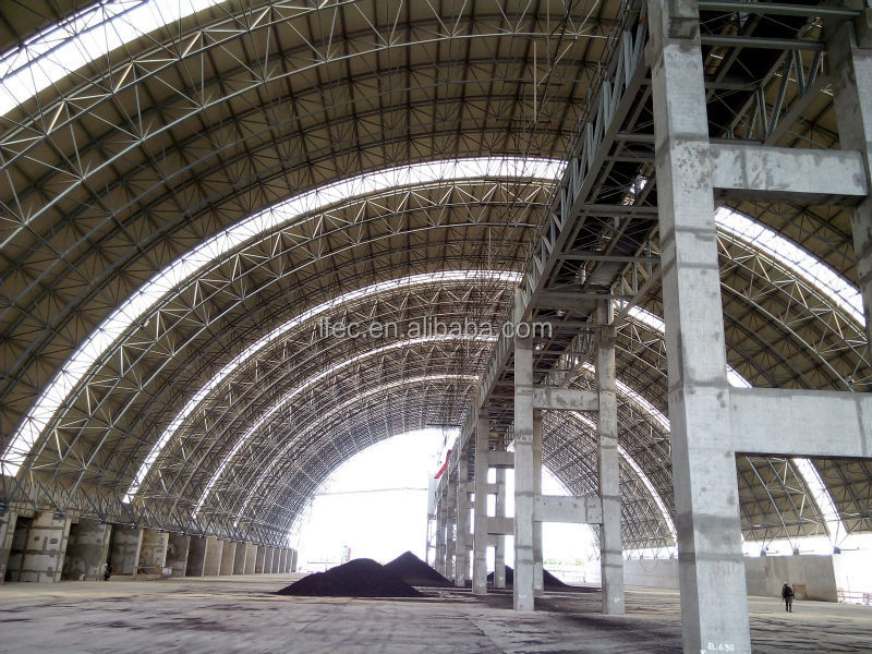 Waterproof High Quality Philippines Space Frame Large Span Coal Storage Shed