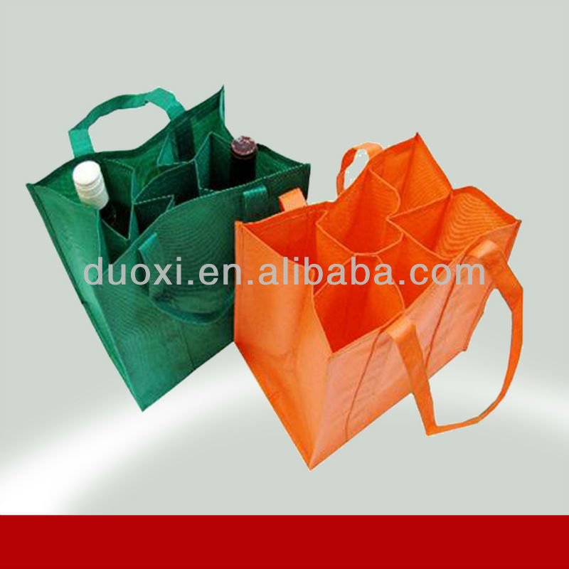 Promotion 6 box non woven wine bottle shopping bag 100% manufacturer