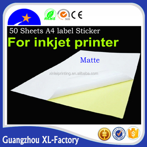 Cheap integrated labels a4 paper, label sticker paper a4,strong stickiness high glossy A4 size blank sticker label for shipping