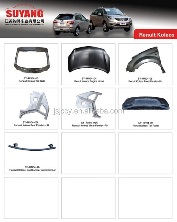 Auto Front Bumper Frame Body Part For Renault Fluence ...