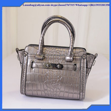 High Quality PU Leather Ladies Wholesale Handbags Fashion Imitated Crocodil Skin Ladies Handbag Bags