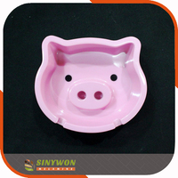 Customized Pig Design Melamine Animal Shaped Ashtray
