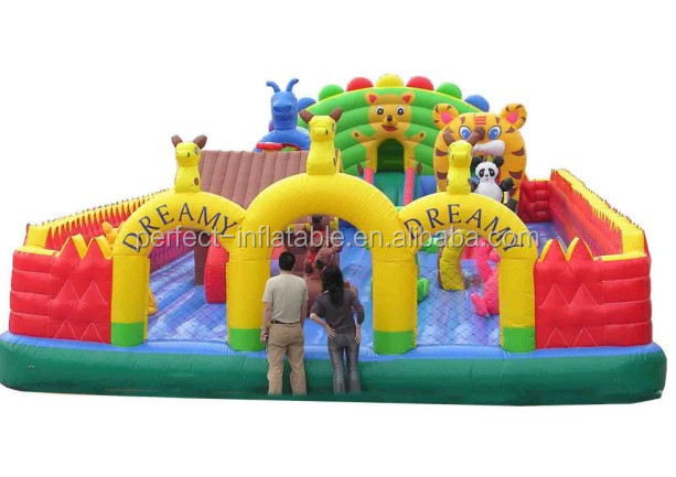Hot Lovely outdoor Inflatable castle/ cartoon inflatable bounce