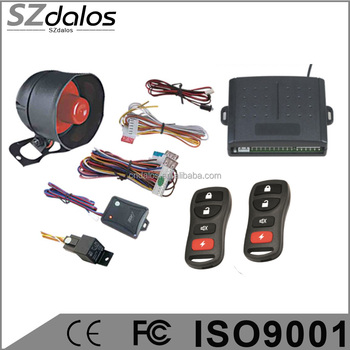 DLS-004 Auto Electronics Security Car Alarm One Way Car Alarm System with Keyless entry