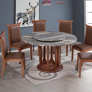 High End Customized Restaurant Furniture antique Design /Elegant solid wood leg and Marble table top restaurant sets living room
