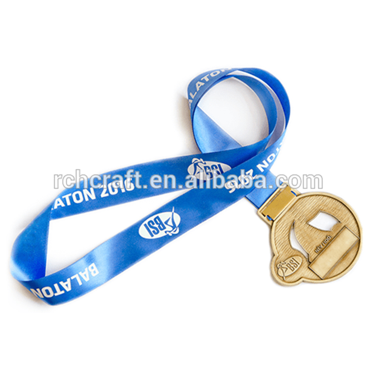 Professional metal award sports medal with ribbon cheap sports medals