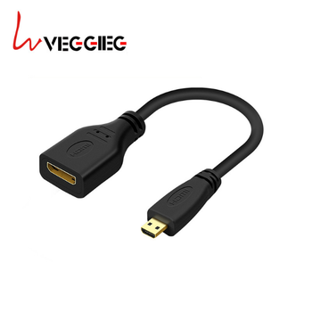 Dongguan factory new Micro hdmi male to mini hdmi female cable apply to mobile phone tablet TV cable