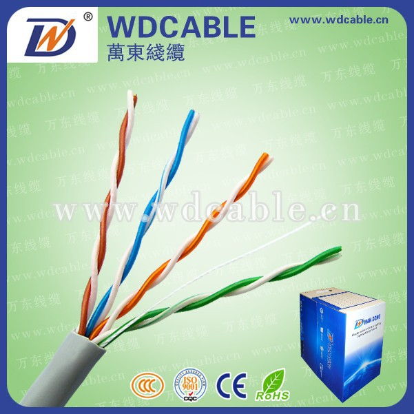 Made In China cat5e cable price per meter& 4 Pair UTP Cat6 Network Cable Copper Lan Network Cat5 Cat 6 Cable 1000FT/Roll