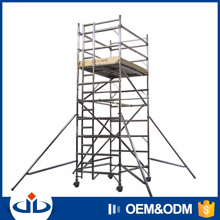 Mobile Scaffolding Product : High quality mobile light tower with build in ladder