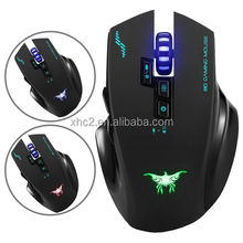 2017 promotional items Plug and Play Combatwing W100 Rechargeable 2.4G Wireless & Wired Optical Gaming Mouse with 4 DPI Levels