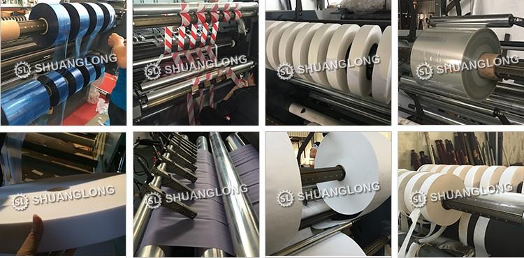 Kecepatan tinggi Pisang Rol Kertas Termal RollsSlitting Memutar Mesin, Roll untuk Roll Cutting