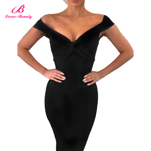 Lover-Beauty Fashion 2018 explosion models Europe and the United States sexy strapless lady hot sexy dress