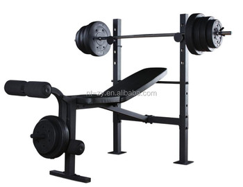 standard bench press with 80lbs of weight plates home gym workout