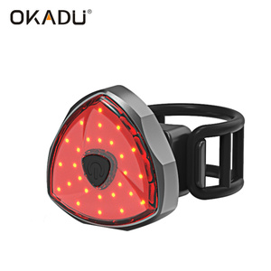 Multifunction German Safety GPS Helmet Spoke USB Rechargeable COB LED Mini Smart Rear Bike Light
