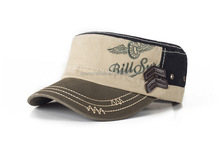 Embroidered Military Cap Men Male Military hat Hats Promotion Flat Cap