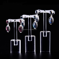 exquisive transparent T design acrylic ring display jewelry stand