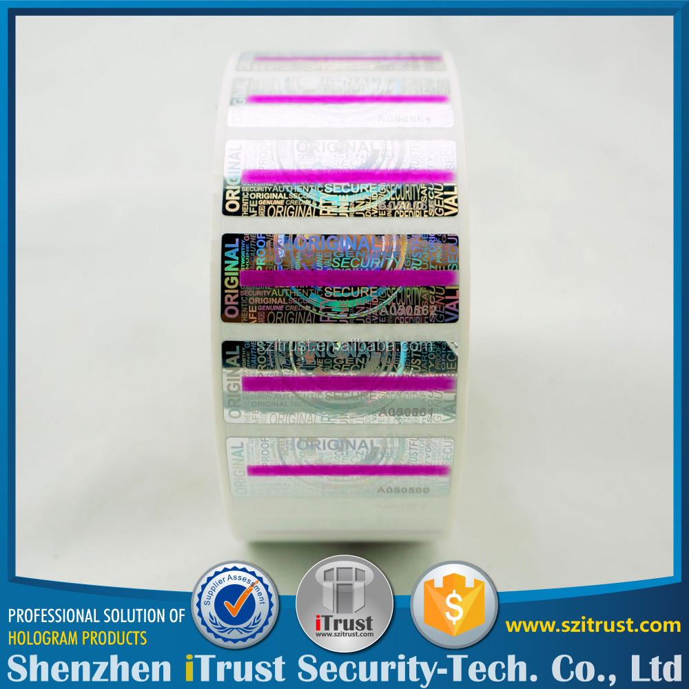 Trade Assurance custom roll 3D / 2D hologram sticker holographic laser label