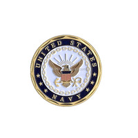 Soft enamel Die casting double side coin souvenir, custom eagle army challenge coin