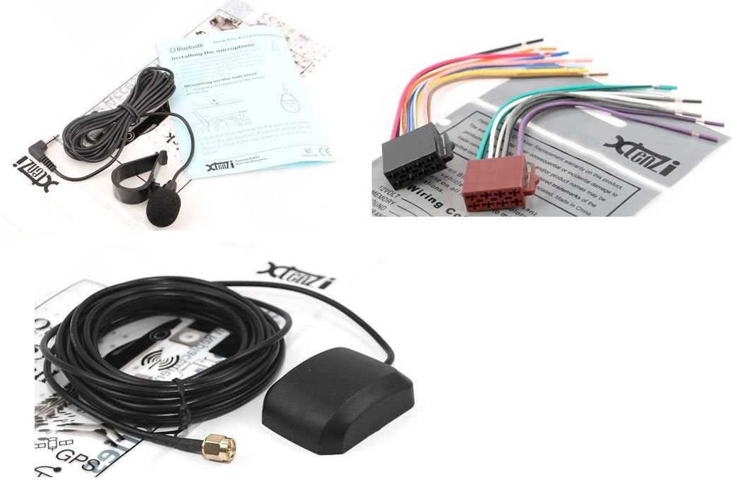 Xtenzi Connection Cable Set for Pioneer Appradio SPH-DA01 SPH-DA02 GPS Antenna MIC Wire Harness 3PCS