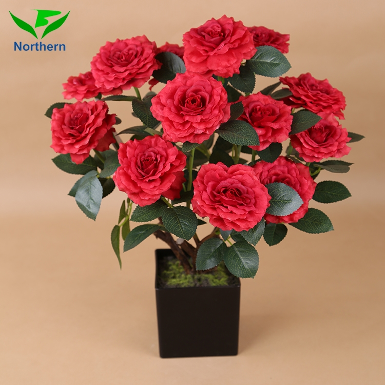 Wholesale Real Touch Artificial Flowers Bouquet Plastic Roses Happy ...