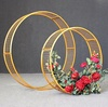 New arrival round wrought metal ring shaped wedding Iron arch for sale