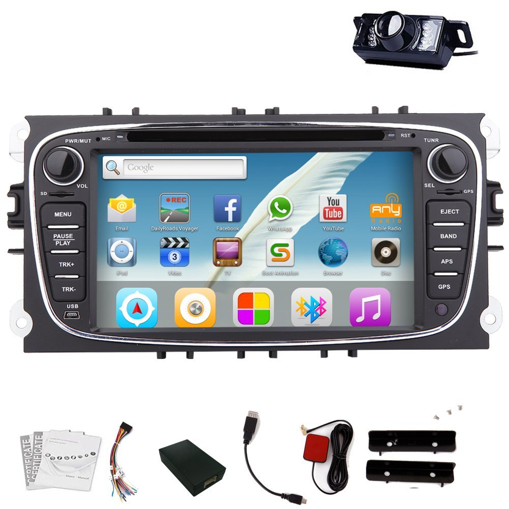 Video In Dash Pupug Double 2 DIN Car Dvd Player Android 4.2 System Car DVD Video Pupug GPS Navigation Mp3 Mp4 Stereo special for For Focus/Mondo Radio 4.2DVD Player
