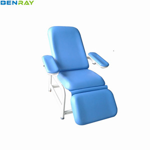 BR-DC08 Manual Position Adjustable Hospital Blood Collection Chair Medical Blood Donation Chair Factory